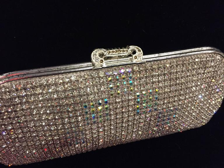 1950s Johann Becker Rhinestone Covered Convertible Evening Bag In Excellent Condition For Sale In San Francisco, CA