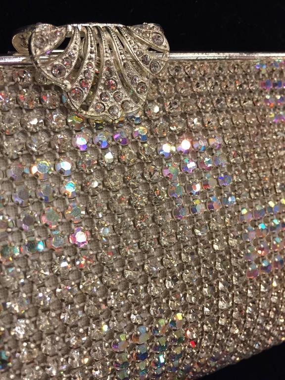 Women's 1950s Johann Becker Rhinestone Covered Convertible Evening Bag For Sale