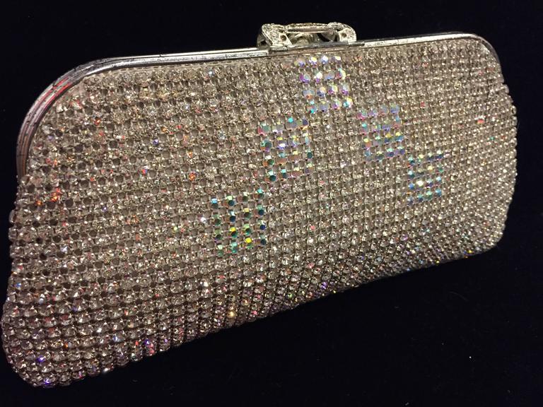 1950s Johann Becker Rhinestone Covered Convertible Evening Bag For Sale 2
