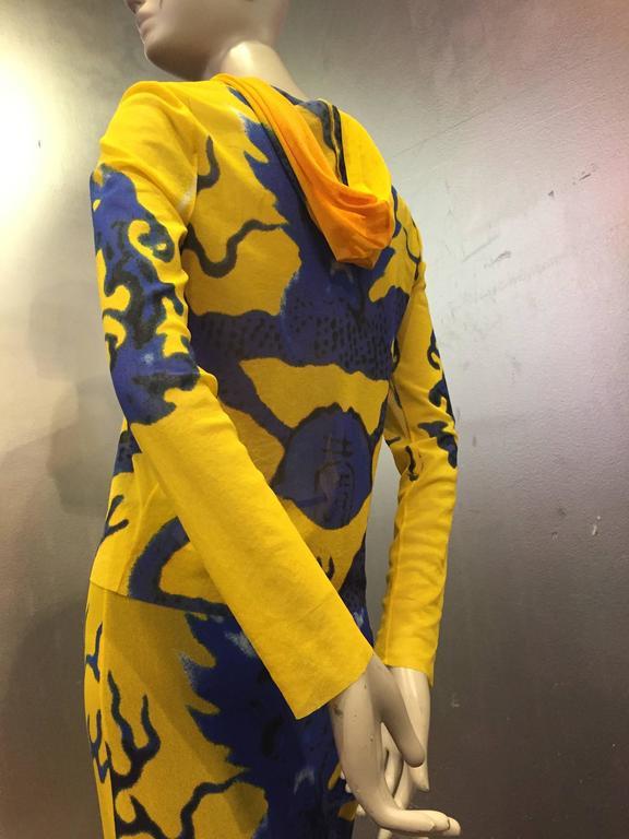 Vivienne Tam Yellow Printed Mesh Dragon Ensemble  3