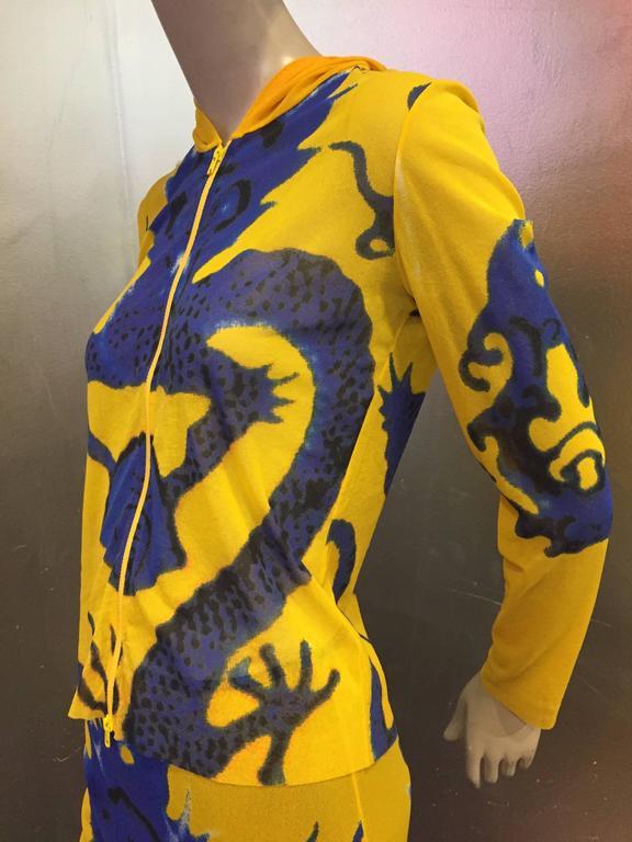 Vivienne Tam Yellow Printed Mesh Dragon Ensemble  8