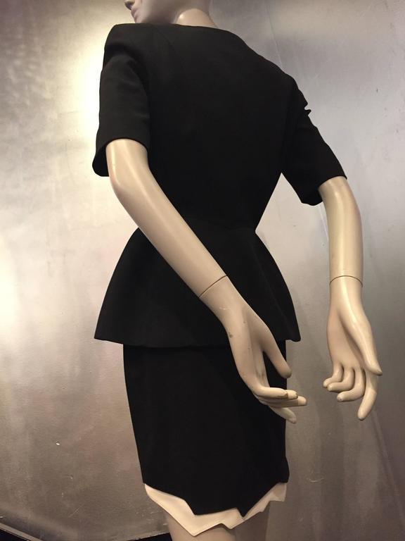 "1980s Iconic Thierry Mugler ""Wasp Woman"" Gabardine Suit w ""Lightning"" Hem 5"