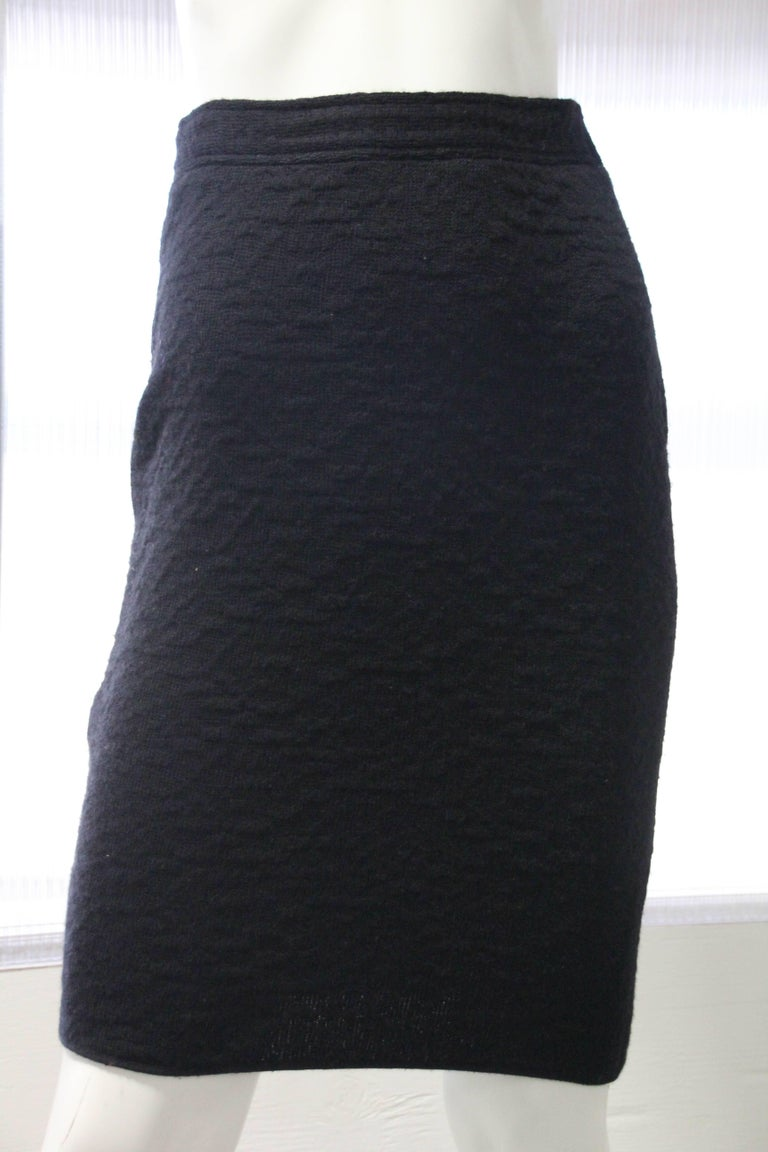 1980s Gianni Versace 3 Piece Knit Skirt Sweater And Scarf