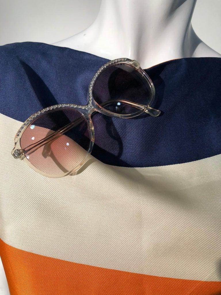 1960s Teal Traina Silk Color Block Mod Shift Dress W/ Head Wrap For Sale 9