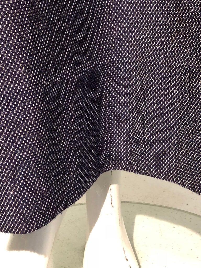 1960s Pauline Trigère Metallic Knit Gown W/ Futuristic Rhinestone Shoulder Yoke For Sale 5