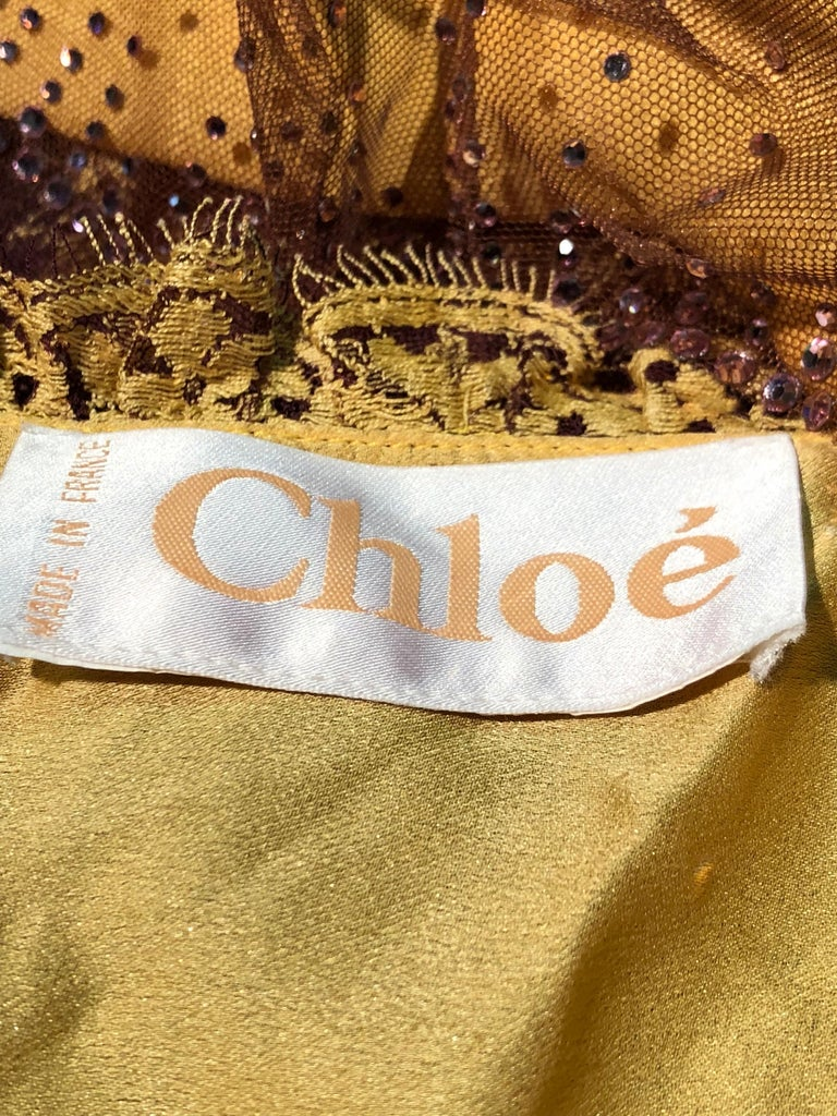 1930s Inspired Chloe Slip Gown In Yellow Silk W/ Burgundy Chantilly-Style Lace  For Sale 13