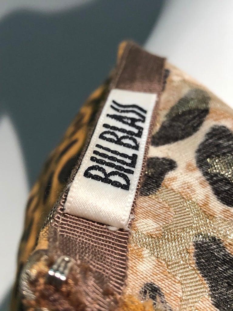 1980s Bill Blass Leopard Brocade Lamé Cigarette Pants For Sale 6