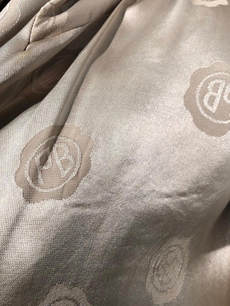 1950s Pierre Benoit Yellow & Gray Checked Wool Stroller Coat W/ Velvet Buttons 14