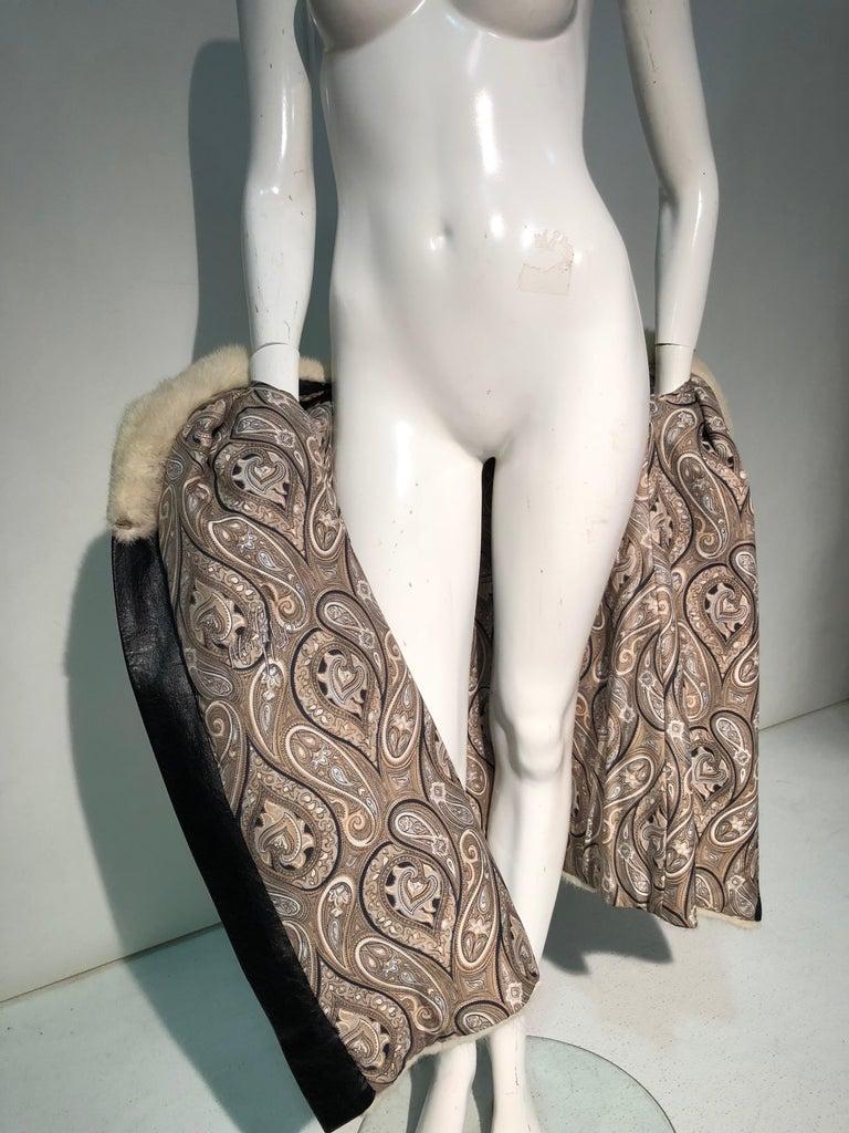 1960er Jahren honey Blonde Nerz & Leder Chevron genäht Mantel W / Leder Korsett Gürtel 19
