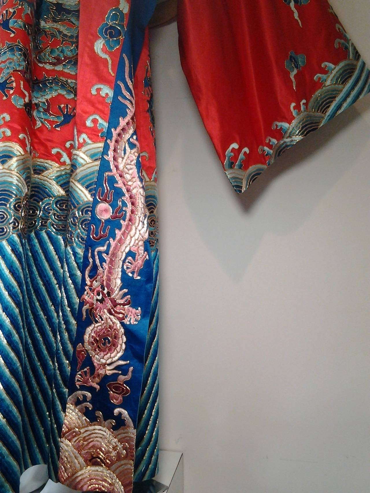 1940s Chinese Red Dragon Robe 3 Pieces 2