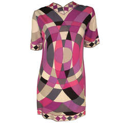 1960s Mod Emilio Pucci Silk Jersey Mini Dress