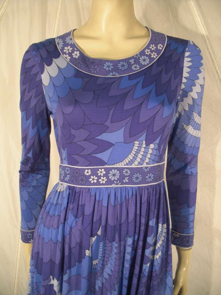 1960s Italian Silk Jersey Bessi Print Dress At 1stdibs