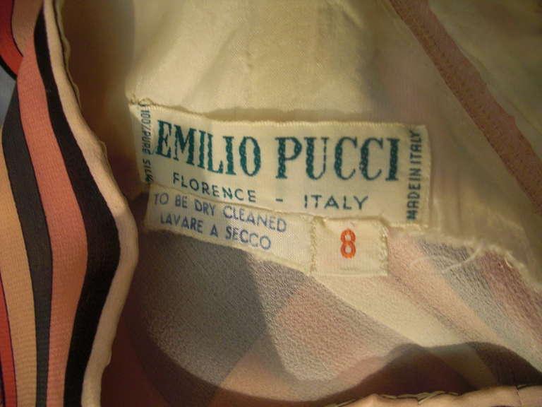 1960s Emilio Pucci Print Silk Chiffon Mini For Sale 2