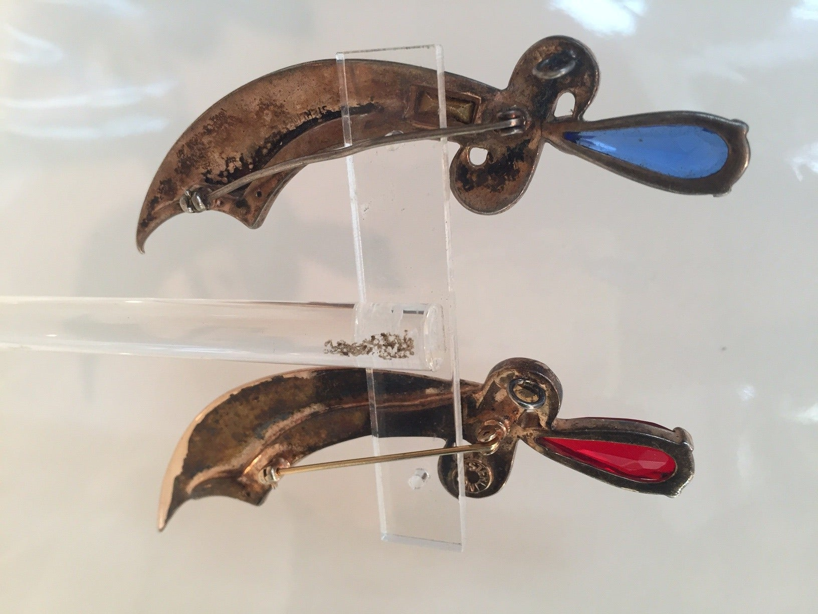 "Women's or Men's 1940s Matching Sterling ""Arabian Nights"" Sword Brooches For Sale"