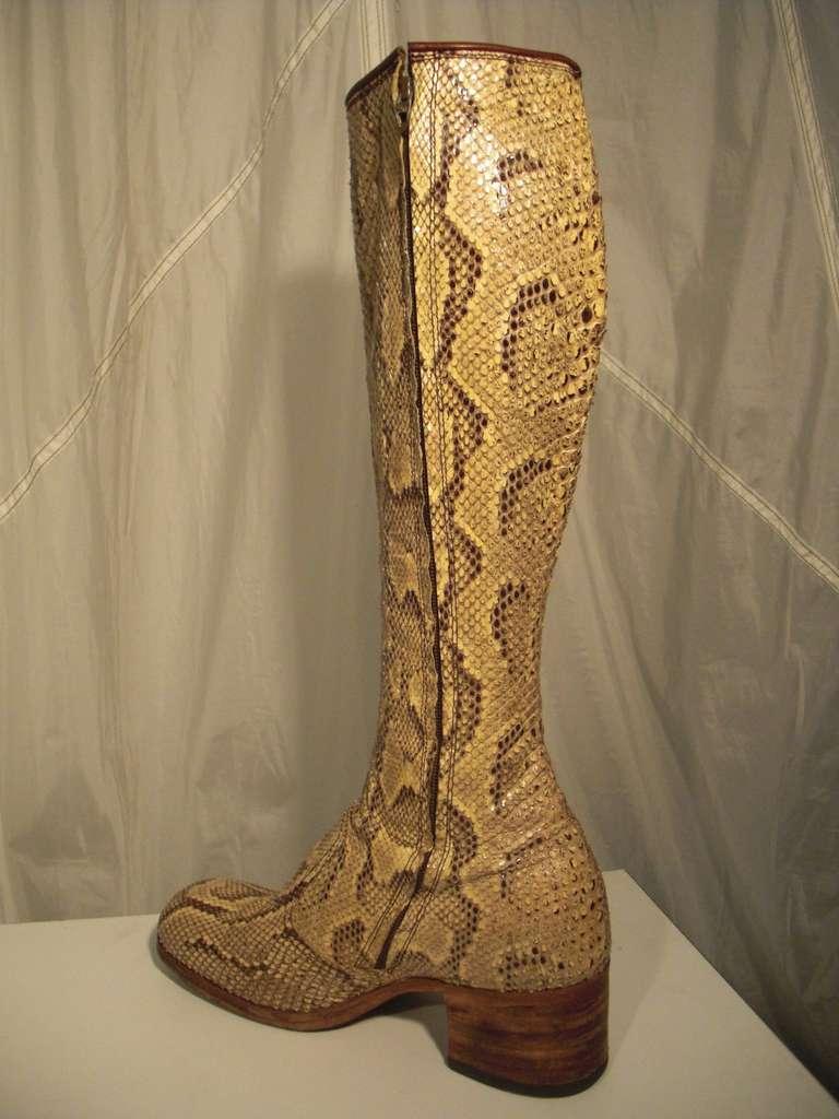 1960s Custom Made Snakeskin Rockstar Boots 3