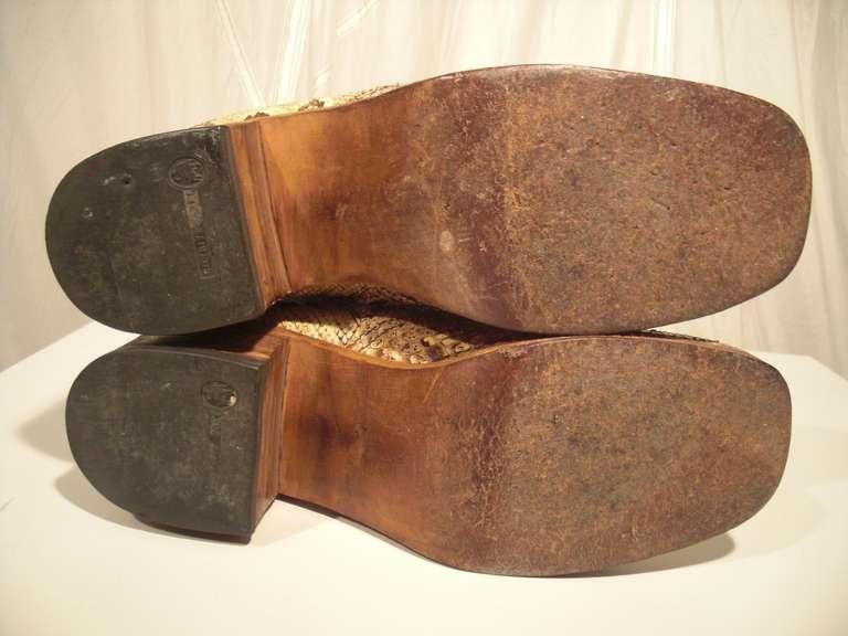 1960s Custom Made Snakeskin Rockstar Boots 5