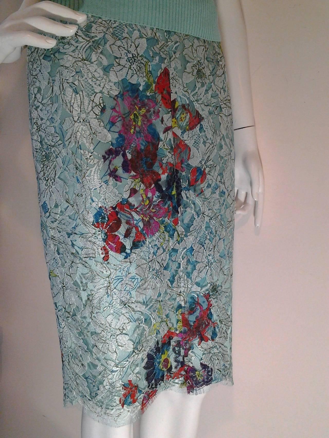 1990s Christian Lacroix Bazaar 2-Piece Sweater and Lace Skirt Ensemble 2