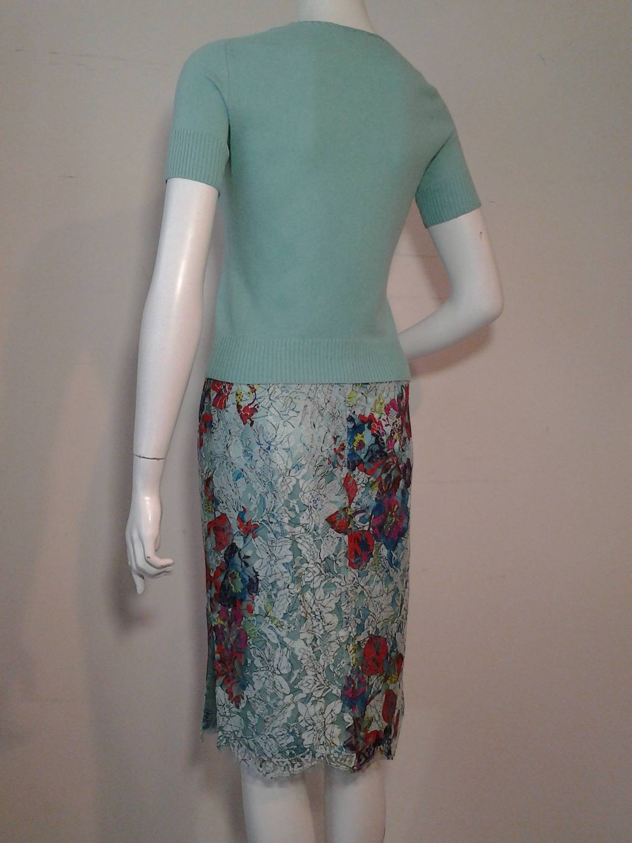 1990s Christian Lacroix Bazaar 2-Piece Sweater and Lace Skirt Ensemble 5