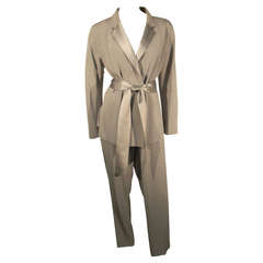 """Richard Tyler Couture """"Le Smoking"""" Tuxedo Suit in Dove Gray"""
