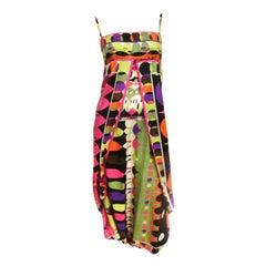1960's Emilio Pucci Silk Print Wrap Jumpsuit