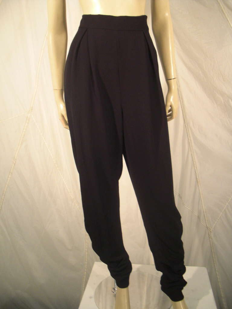 1990s Chanel High-Waisted Draped Leg Trouser 2