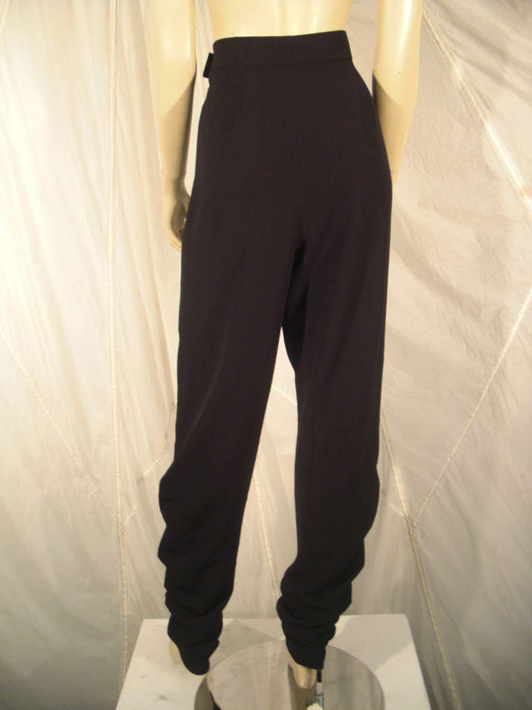 1990s Chanel High-Waisted Draped Leg Trouser 3