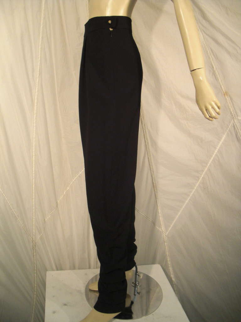 1990s Chanel High-Waisted Draped Leg Trouser 4