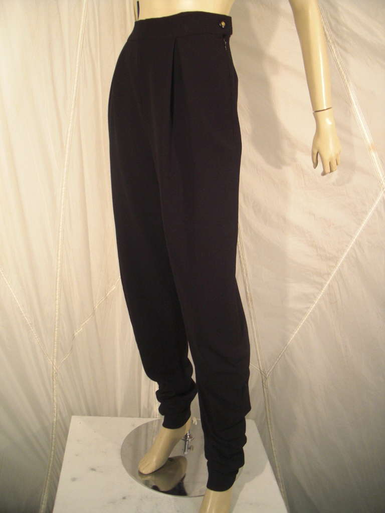 1990s Chanel High-Waisted Draped Leg Trouser 5
