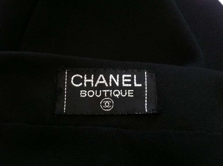 1990s Chanel High-Waisted Draped Leg Trouser 7