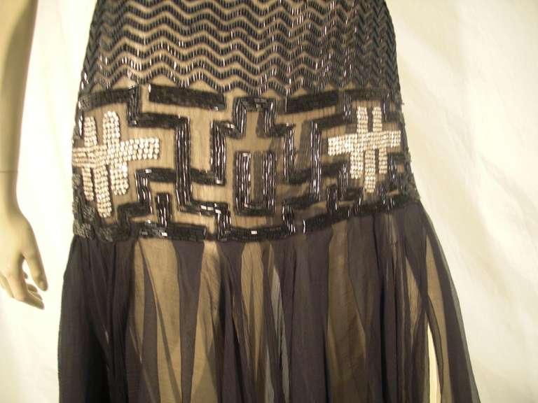 "20's Deco Handkerchief Hem Beaded ""Flapper"" 4"