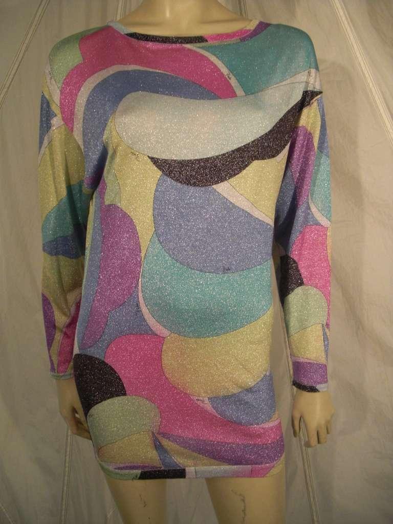 Emilio Pucci Lurex Knit Mini Dress with Low Scoop Back 2
