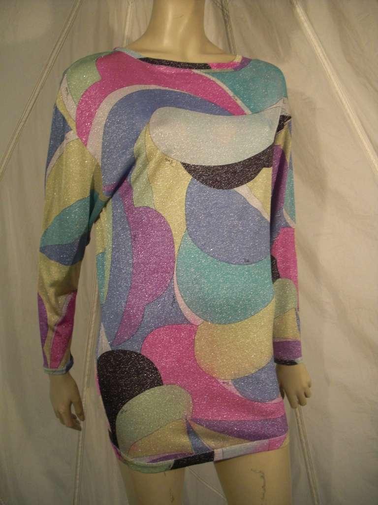 Emilio Pucci Lurex Knit Mini Dress with Low Scoop Back 3