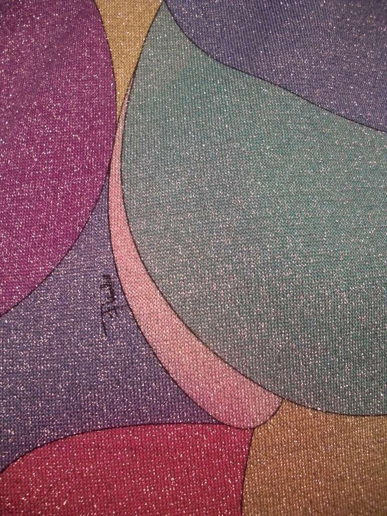 Emilio Pucci Lurex Knit Mini Dress with Low Scoop Back 9