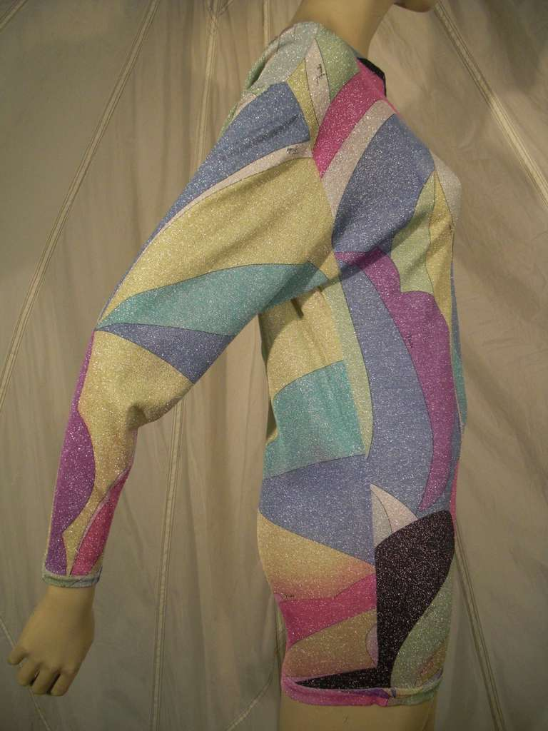 Emilio Pucci Lurex Knit Mini Dress with Low Scoop Back 5