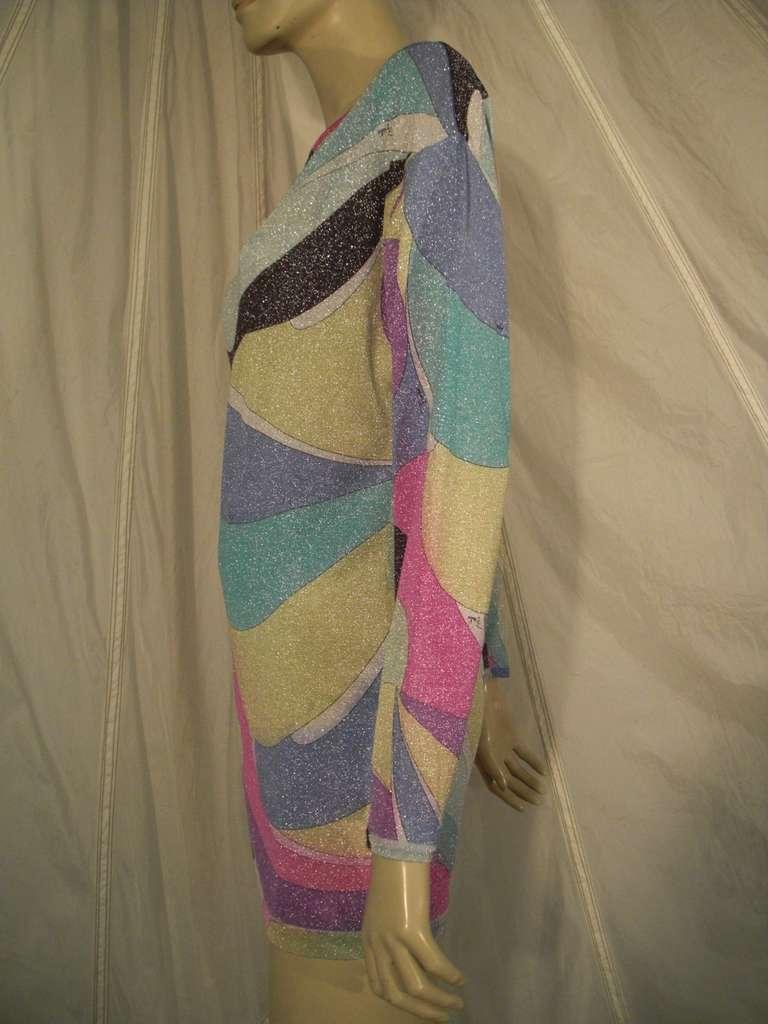 Emilio Pucci Lurex Knit Mini Dress with Low Scoop Back 7