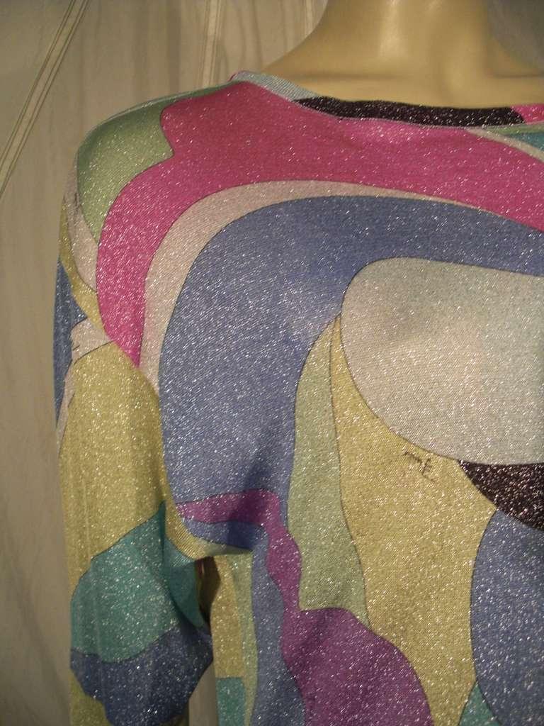 Emilio Pucci Lurex Knit Mini Dress with Low Scoop Back 4