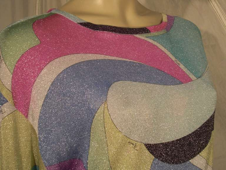 Emilio Pucci Lurex Knit Mini Dress with Low Scoop Back 8