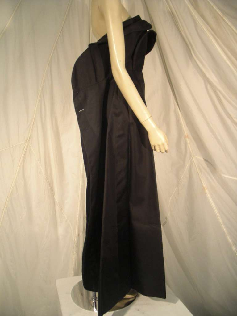 1960s Pauline Trigere Silk Strapless Organza Gown and Cape 7