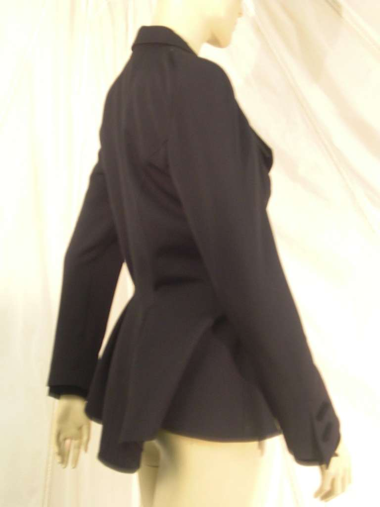 """1980s Thierry Mugler  Exaggerated """"Riding Habit"""" Style Jacket 5"""