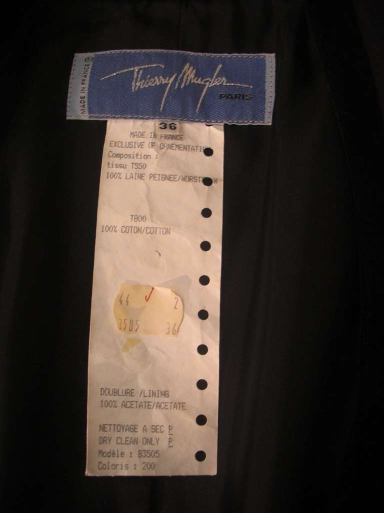 """1980s Thierry Mugler  Exaggerated """"Riding Habit"""" Style Jacket 8"""