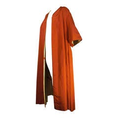 1950s Gold Lame and Orange Opera Coat Made for Sophie Tucker