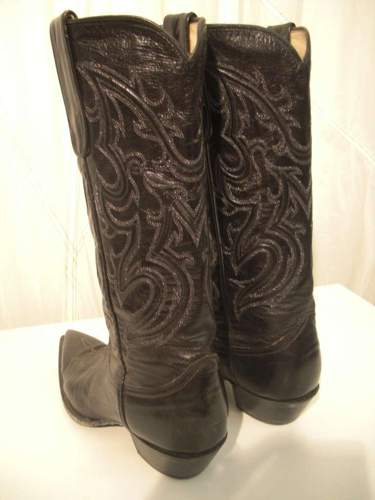 Bleu's Leather Western Boot with Pointed Toe and Stitched Upper 3