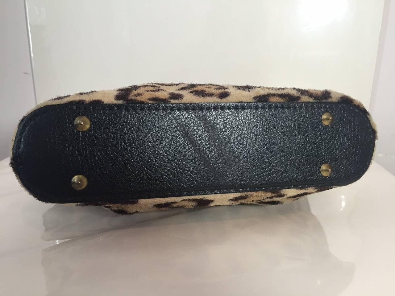 1950s Faux Leopard Fur Handbag 5
