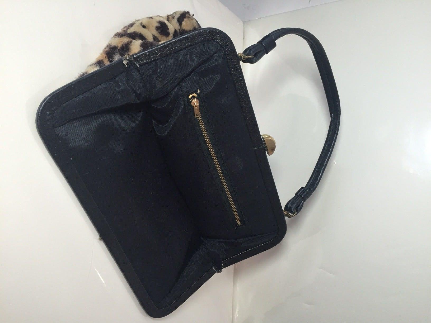 1950s Faux Leopard Fur Handbag 3