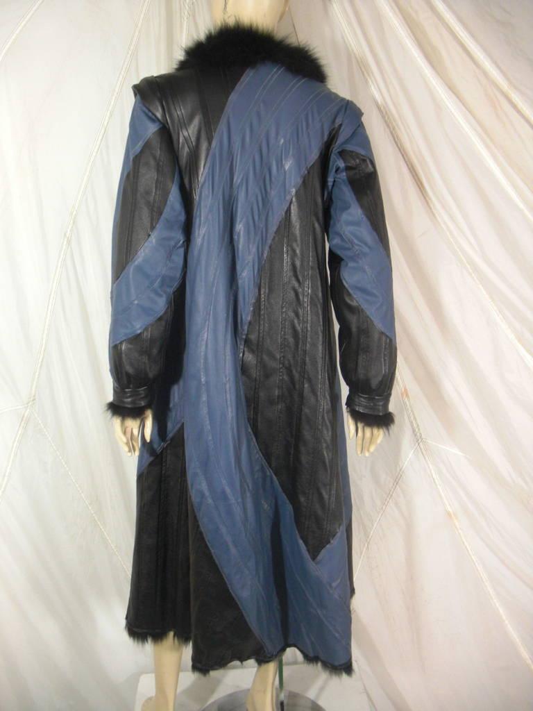 1980s Dyed Fox Reversible Maxi Coat 9