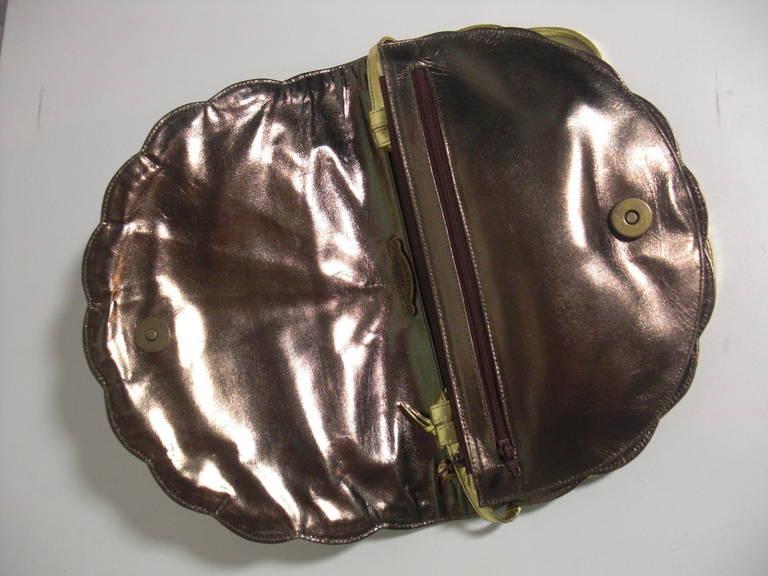 Maud Frizon Of Paris Gold Tone Scalloped Shell Starburst Bag 8Y4AikKc