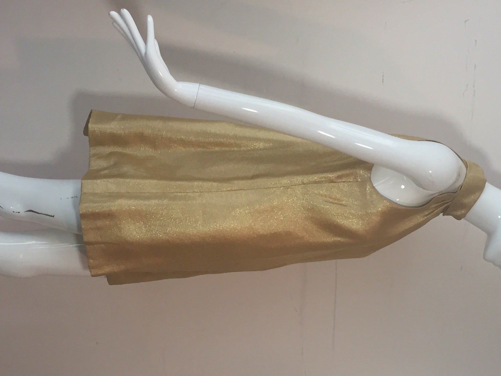 1960s Lame Trapeze Mini Dress 2