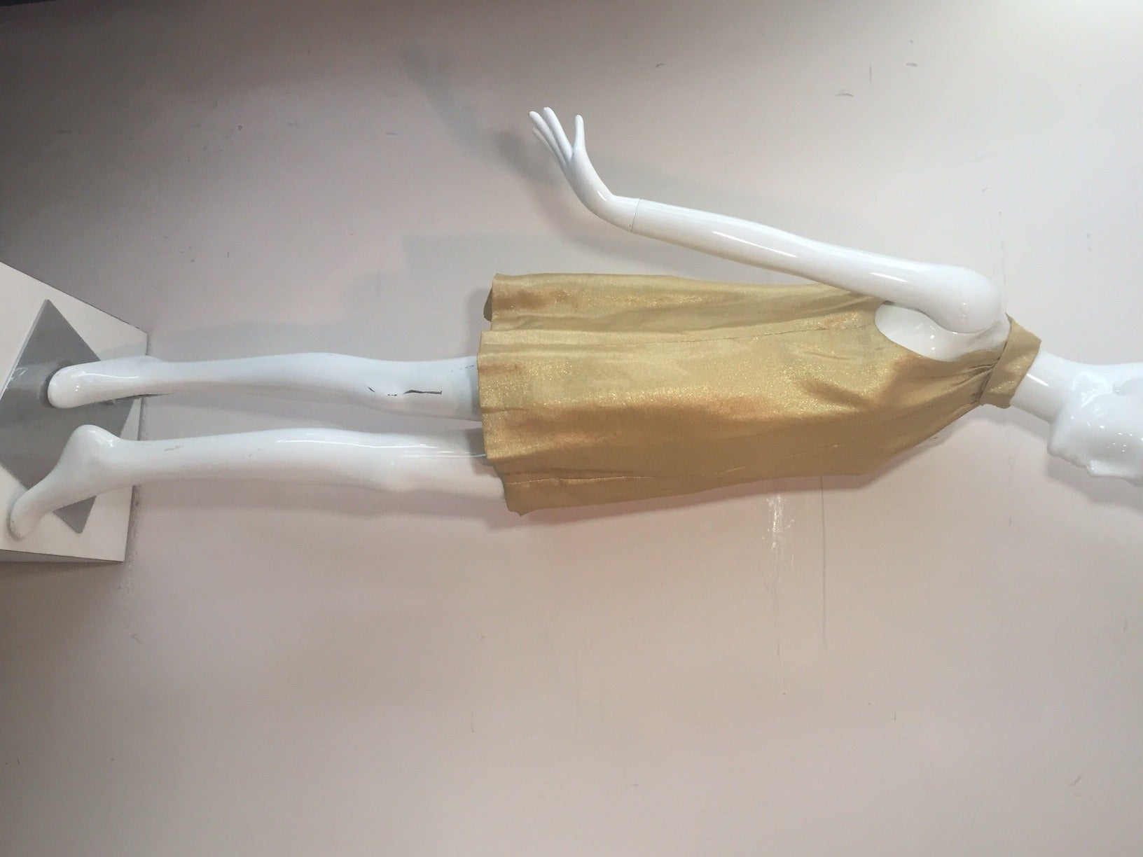 1960s Lame Trapeze Mini Dress 6
