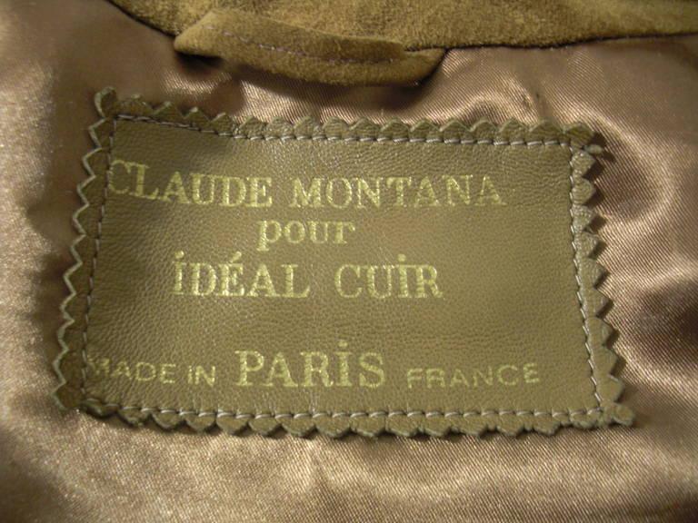 1980s Claude Montana Brown Suede Fringe Jacket 9