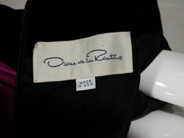 Oscar de la Renta Duchess Silk Satin and Black Velvet Ball Gown 8